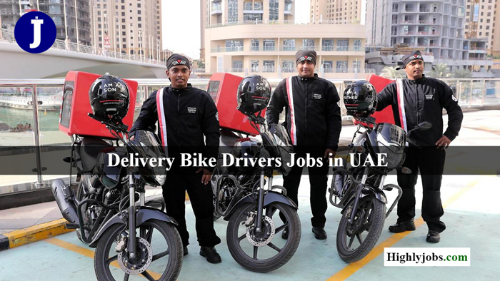 Delivery Bike Drivers Jobs in Dubai & UAE Offering Good
