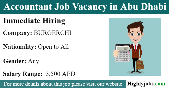 Accountant Job Vacancy in Abu Dhabi | Highlyjobs