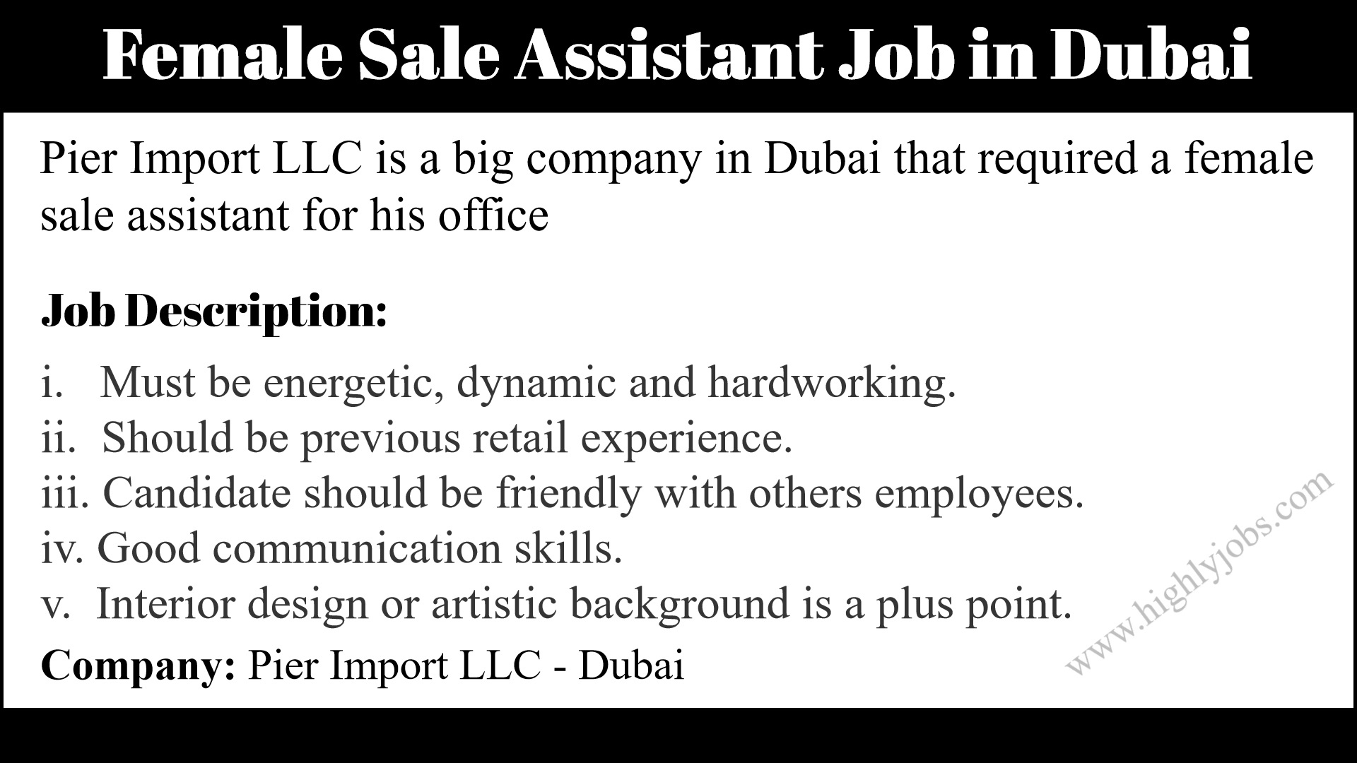 Female Sales Assistant Job In Dubai Highlyjobs,Front Yard Small Garden Landscape Design Philippines