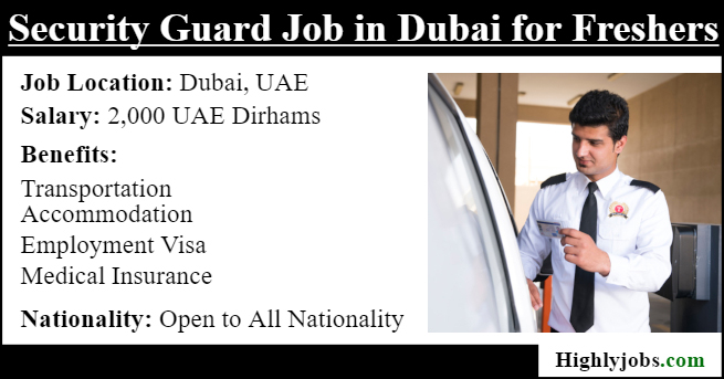 Security guard jobs in uae 2019