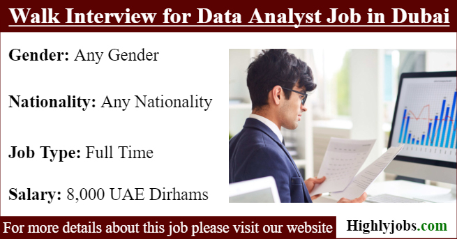 Walk Interview for Data Analyst Job in Dubai | Highlyjobs