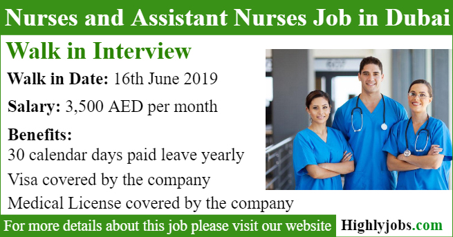 Walk in Interview for Nurses and Assistant Nurses | Highlyjobs