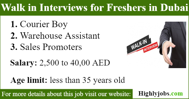 Walk in Interviews for Freshers in Dubai Tomorrow   Highlyjobs
